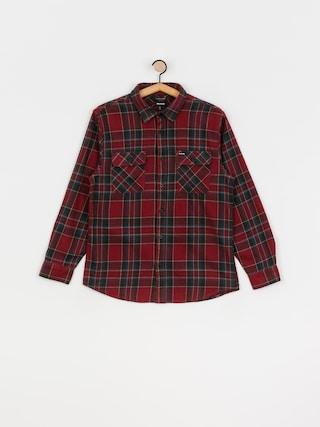 Kou0161ile Brixton Bowery Flannel Ls (burgundy)