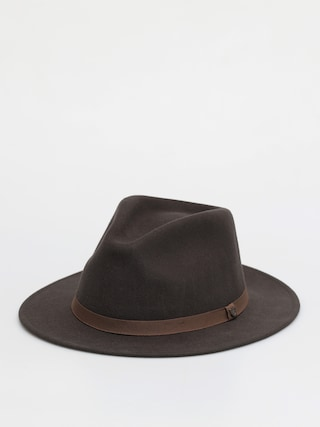 Klobouk Brixton Messer Packable Fedora (washed black/light brown)