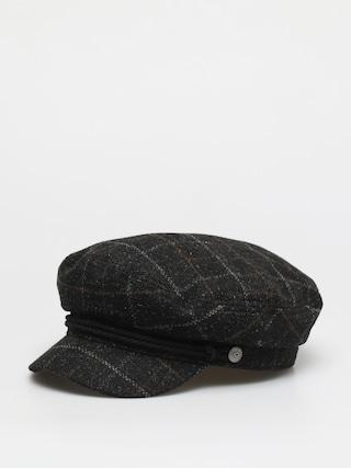 Klobouk s ku0161iltem Brixton Fiddler Cap Wmn (black/dark brick)