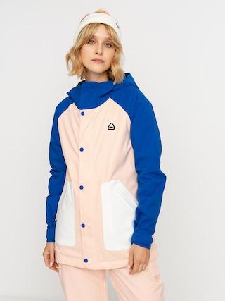 Snowboardovu00e1 bunda Burton Eastfall Wmn (lapis blue/peach melba/stout white)