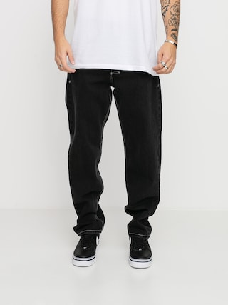Kalhoty MassDnm Craft Jeans Baggy Fit (black rinse)