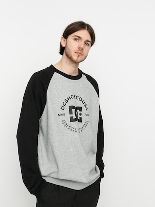 Mikina DC Star Pilot Raglan (heather grey/black)