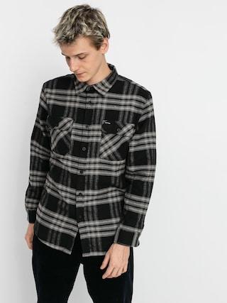 Kou0161ile Brixton Bowery Flannel Ls (black/charcoal)