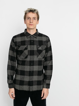 Kou0161ile Brixton Bowery Flannel Ls (black/steel)