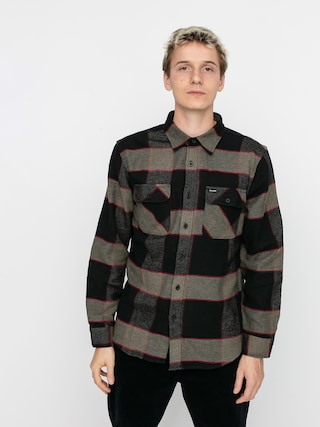 Kou0161ile Brixton Bowery Flannel Ls (heather grey/charcoal)