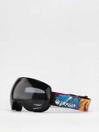 Brýle na snowboard Dragon X2 (teddy/ll dark smoke/ll violet)