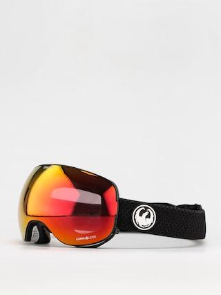 Brýle na snowboard Dragon X2 (split/ll red ion/ll light rose)