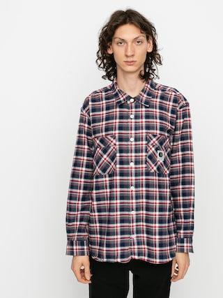 Kou0161ile Polar Skate Flannel (navy/red)