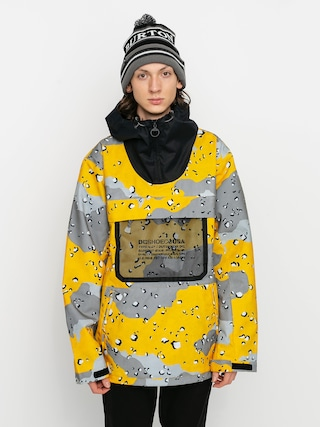 Snowboardovu00e1 bunda DC Asap Anorak (chocolate chip lemon chro camo)