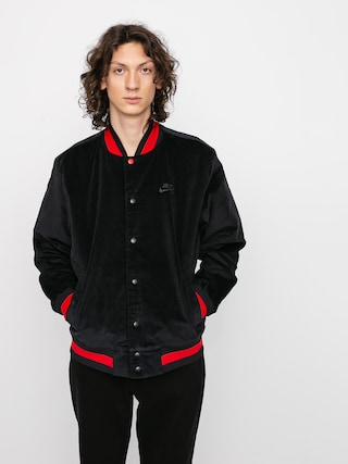 Bunda Nike SB Corduroy Bomber (black/black/university red/black)