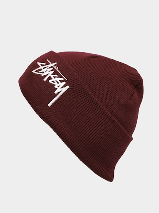 u010cepice Stussy Big Stock Cuff (burgundy)