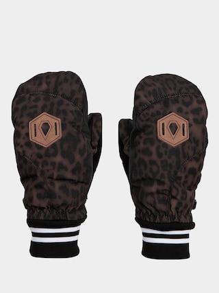 Rukavice Volcom Bistro Mitt Wmn (leopard)