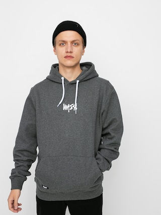 Mikina s kapucí MassDnm Signature Small Logo HD (dark heather grey)