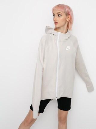 Mikina Nike Tch Flc Cape Fz Plus Wmn (desert sand/white)