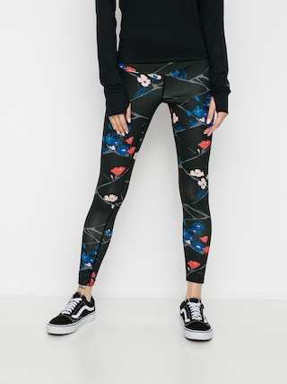 Termoleginy Burton Lightweight X Base Layer Pant Wmn (true black landscape floral)