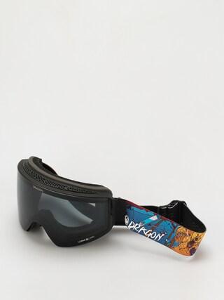 Bru00fdle na snowboard Dragon PXV (teddy/ll dark smoke/ll violet)