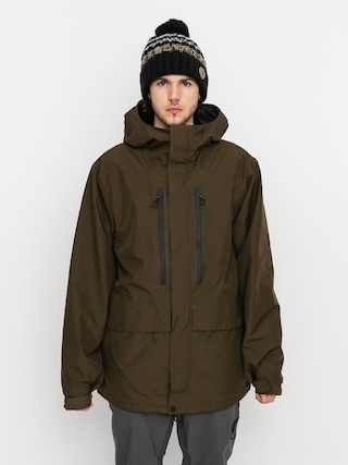 Snowboardovu00e1 bunda Volcom Ten Ins Gore Tex (black military)