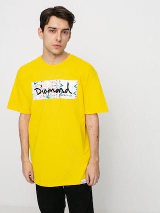 Tričko Diamond Supply Co. Paisley Box Logo (yellow)