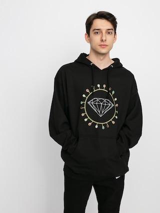 Mikina s kapucí Diamond Supply Co. Diamond Chain HD (black)