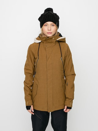 Snowboardovu00e1 bunda Volcom Shrine Ins Wmn (burnt khaki)