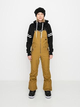 Snowboardovu00e9 kalhoty  Volcom Swift Bib Overall Wmn (burnt khaki)