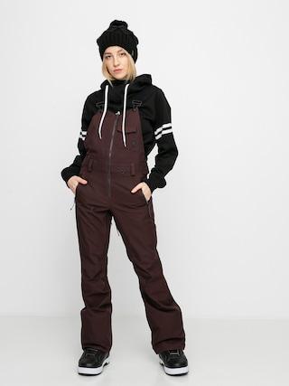 Snowboardové kalhoty  Volcom Swift Bib Overall Wmn (black red)