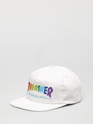 Ku0161iltovka  Thrasher Rainbow Mag Snapback ZD (white)