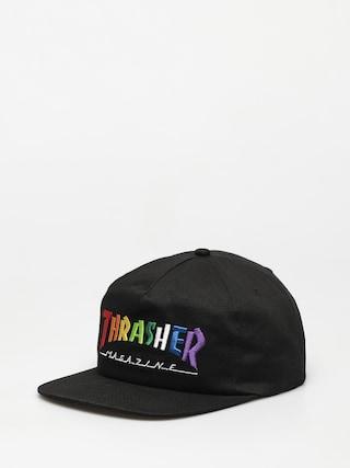 Ku0161iltovka  Thrasher Rainbow Mag Snapback ZD (black)