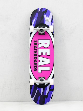 Skateboard Real Oval Camo (pink)