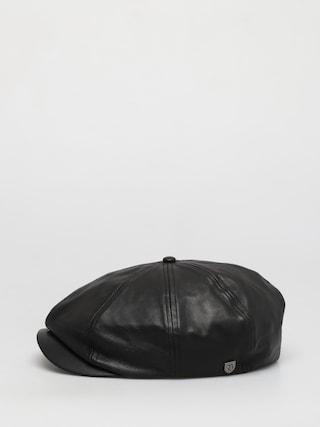Klobouk s kšiltem Brixton Brood Snap ZD (black leather)