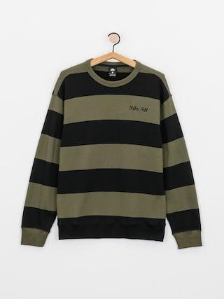 Mikina Nike SB Stripe Crew (cargo khaki/black/black)