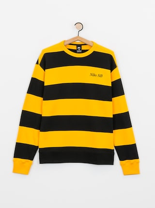 Mikina Nike SB Stripe Crew (university gold/black/black)