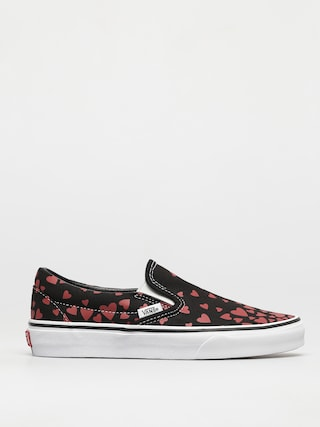 Boty Vans Classic Slip On (valentines hearts black/racing red)
