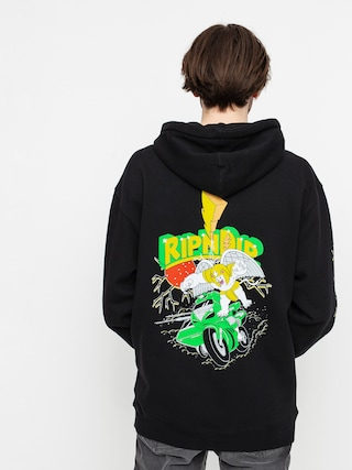 Mikina s kapucí RipNDip Power Nerm HD (black)