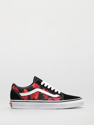 Boty Vans Old Skool (valentines hearts black/fuchsia purple)