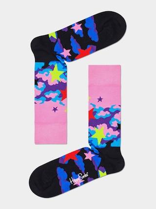Ponožky Happy Socks Stars (pink/black)
