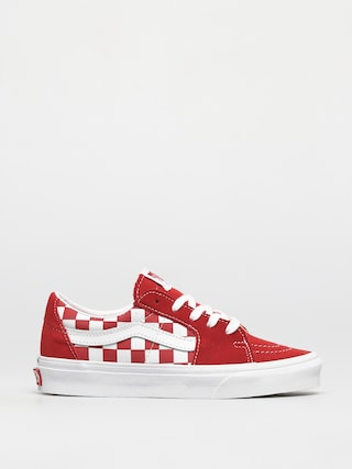 Boty Vans Sk8 Low (canvas/suede racing red/checkerboard)