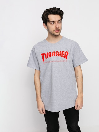 Thrasher Tričko Skate Mag (grey/red)