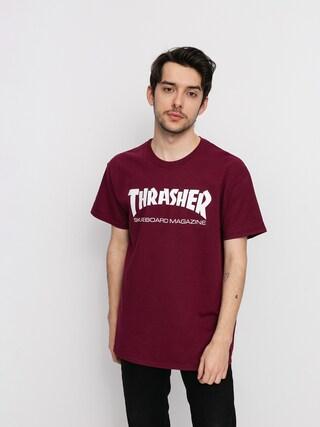 Thrasher Tričko Skate Mag (maroon)