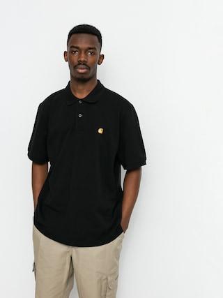 Polo triu010dko Carhartt WIP Chase Pique (black/gold)