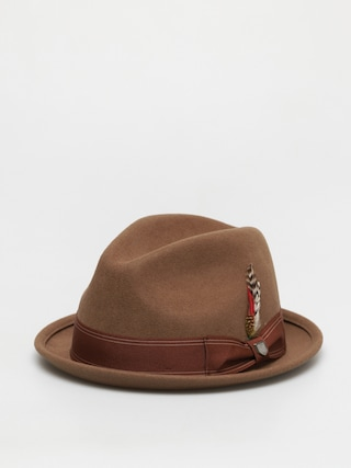Klobouk Brixton Gain Fedora (washed copper)