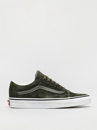 Boty Vans Old Skool (pig suede olive/true white)