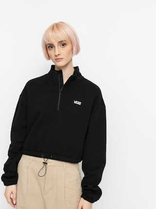 Mikina Vans Left Chest Half Zip Wmn (black)