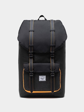 Batoh Herschel Supply Co. Little America (black crosshatch/black/blazing orange)