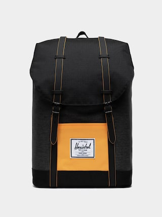 Batoh Herschel Supply Co. Retreat (black crosshatch/black/blazing orange)
