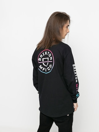 Triko Brixton Crest Stt (black/light blue/pink)