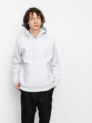 Mikina s kapucí Carhartt WIP Chase HD (ash heather/gold)