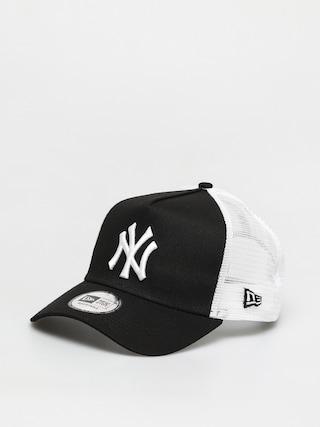 Kšiltovka  New Era Clean Trucker New York Yankees ZD (black/white)