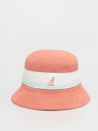 Klobouk Kangol Bermuda Stripe Bucket (peach pink)
