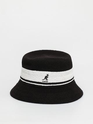 Klobouk Kangol Bermuda Stripe Bucket (black)